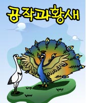 공작과 황새(The Peacock and the Stork)